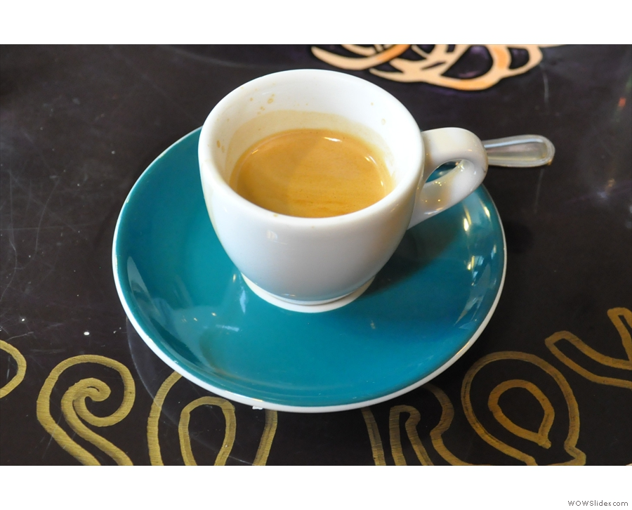 The Nueva Llusta single-origin espresso: looking (and tasting) good!