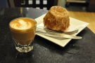 My excellent cortado and equally excellent Hekla.