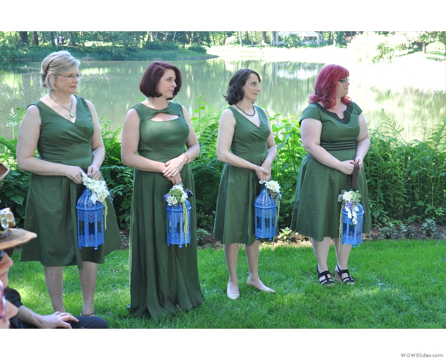 The bridesmaids waiting for the bride.