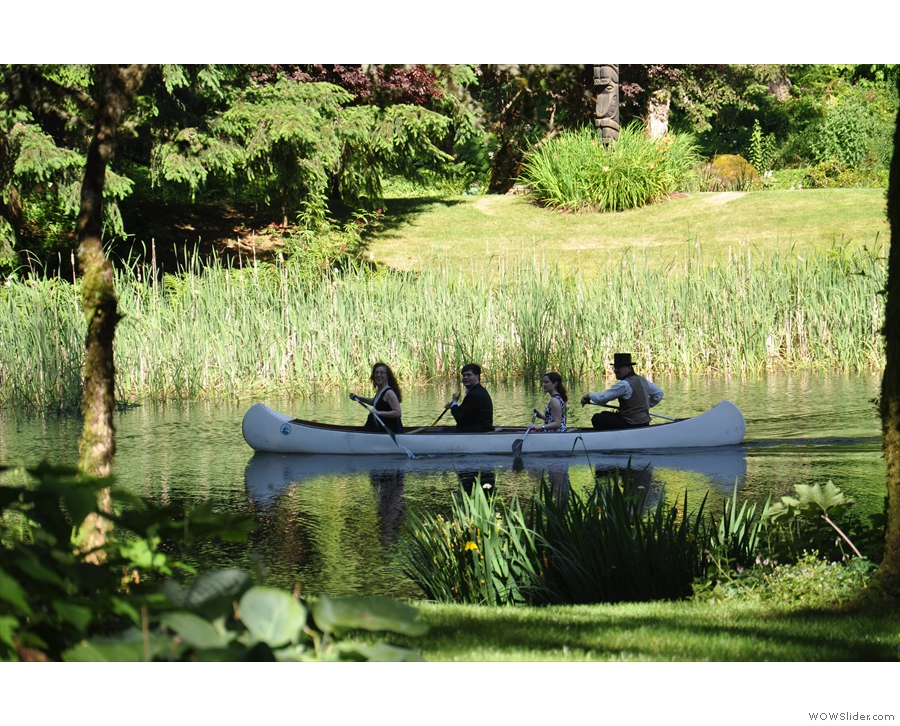 Since we were by a lake, there was much messing about in canoes...