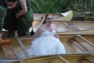 Even the bride got in on the act...