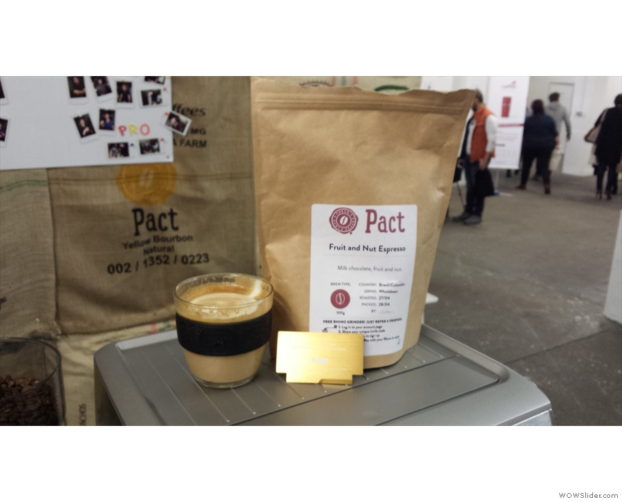 My KeepCup gets in on the act with Pact Coffee at the London Coffee Festival.