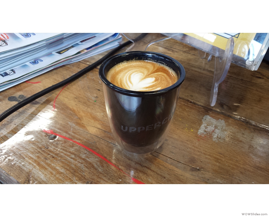 Back home, and UPPERCUP goes to Beany Green, where several of the baristas love it.