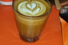 However, it was designed for flat whites, so here's one, again from the Coffee Festival.