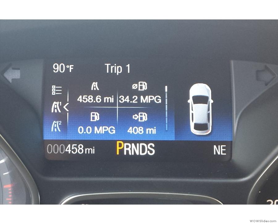 I arrived back just in time, 456.8 miles after I'd left on Friday evening!
