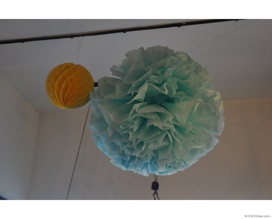 I think that this is decoration rather than a mad lamp-shade!