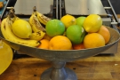 And if that wasn't enough, next comes the fruit, which sits in front of the grill...