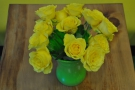 ... while these yellow roses were there on my return.