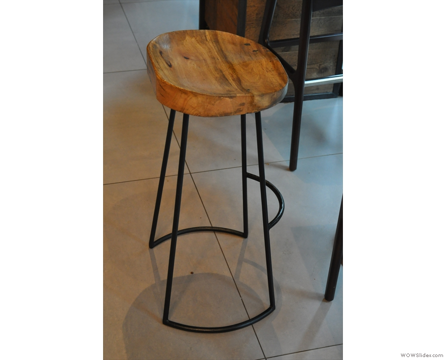 I'm particularly fond of these high bar stools.