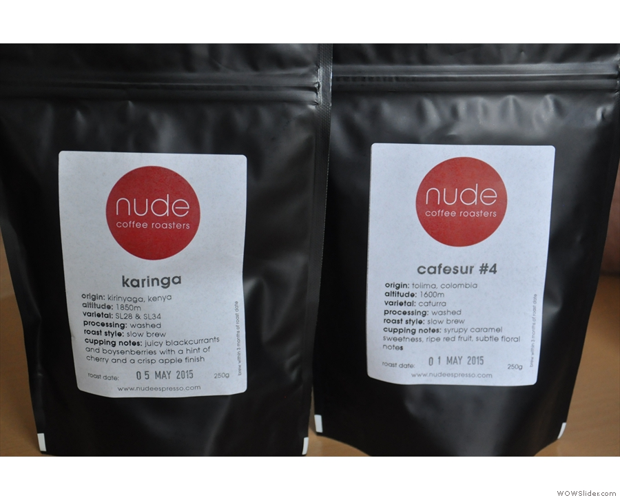 The other important inigredient is coffee, of course. Ours was from Nude.