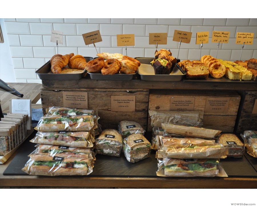 Some of the sandwich and pastries on offer.
