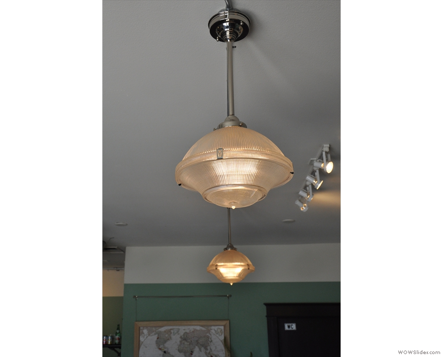 More glass lampshades...
