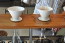 A filter coffee is prepared...