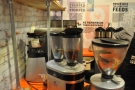 There was plenty of variety on offer as well, with no fewer than four grinders!