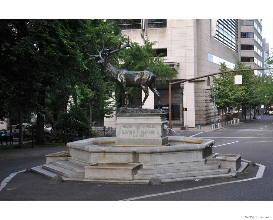 My photos don't really do Portland justice. It's full of broad avenues, trees & the odd statue.