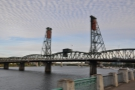 ... & the Hawthorne Bridge, a lift bridge from 1910. Sadly I didn't have time to walk across...