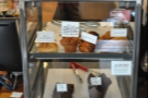 Inside you are confronted by a small, but excellent, selection of cakes and pastries...
