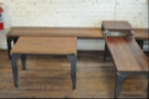 Seating is mostly in the form of low wooden benches and tables...