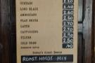 The espresso menu is fairly comprehensive...