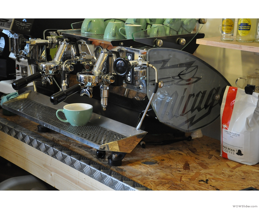 Starting with espresso... The Mirage, by the way, is being replaced with a lever version!
