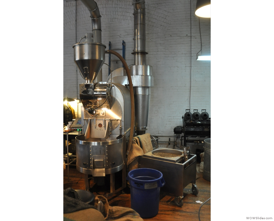 There's already a load of beans in the roaster and another ready to go when I arrive.