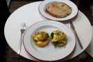 I also had brunch while I was there: no prizes for guessing I went for Eggs Florentine.