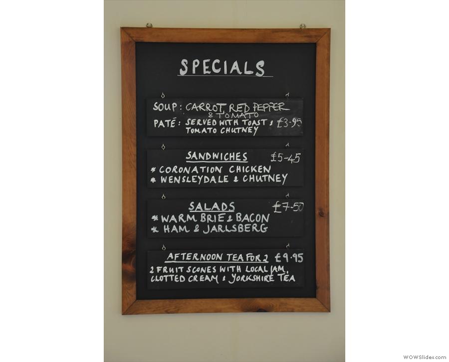 There's a decent food menu...