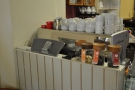 Standing by the espresso machine is my perpetual stalker, Kokoa Collection hot chocolate!