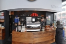 A panoramic view of the counter, as seen from the window-bar.