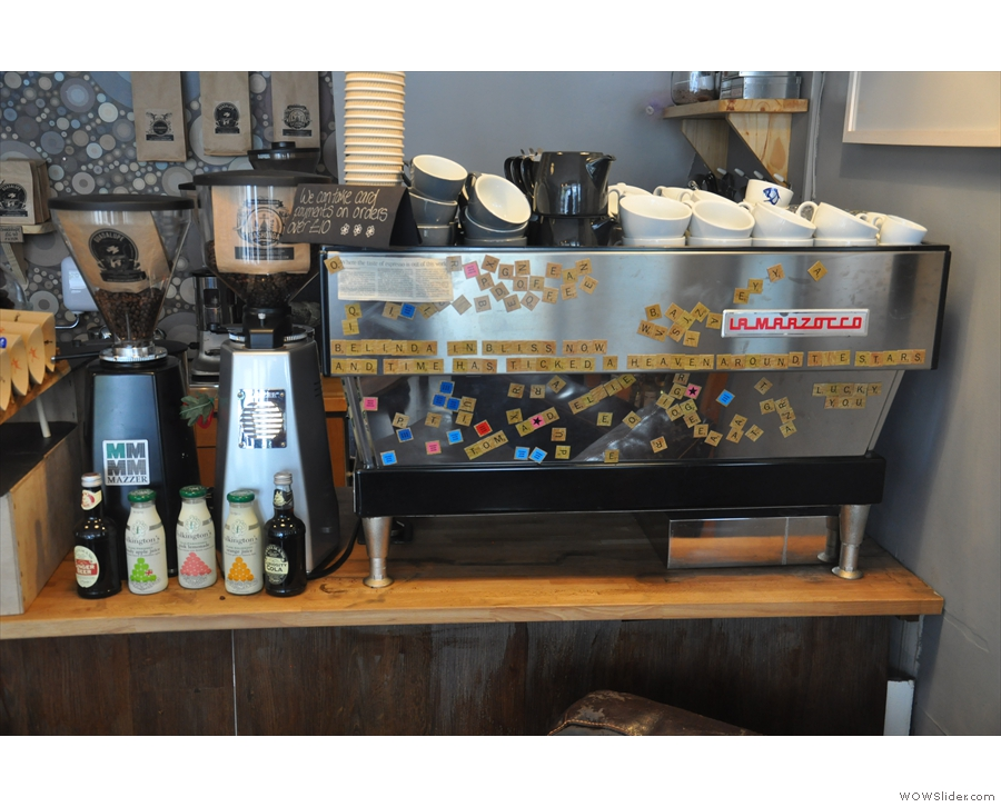 Talking of which, here's the espresso machine complete with twin grinders.