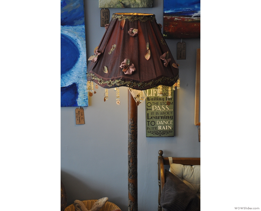 Light fitting fans won't be disappointed. Examples range from this lampstand...