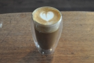 I followed that up with the same coffee, the Colombian Guadalupe, in a piccolo...