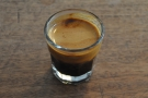 ... and then on its own as an espresso.