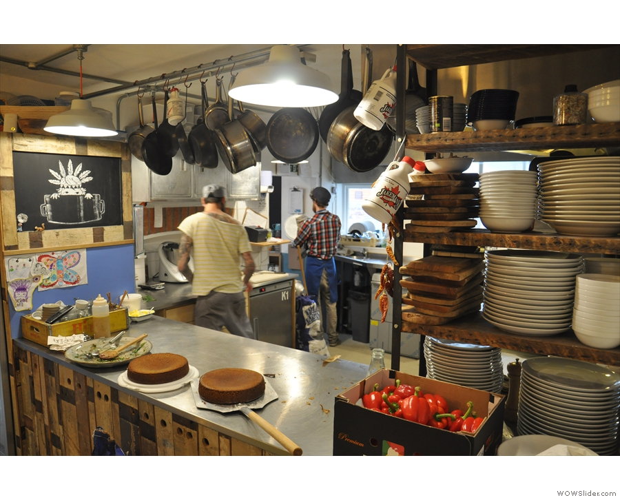 It's Soulshine's fully-functional kitchen where all the food is cooked.