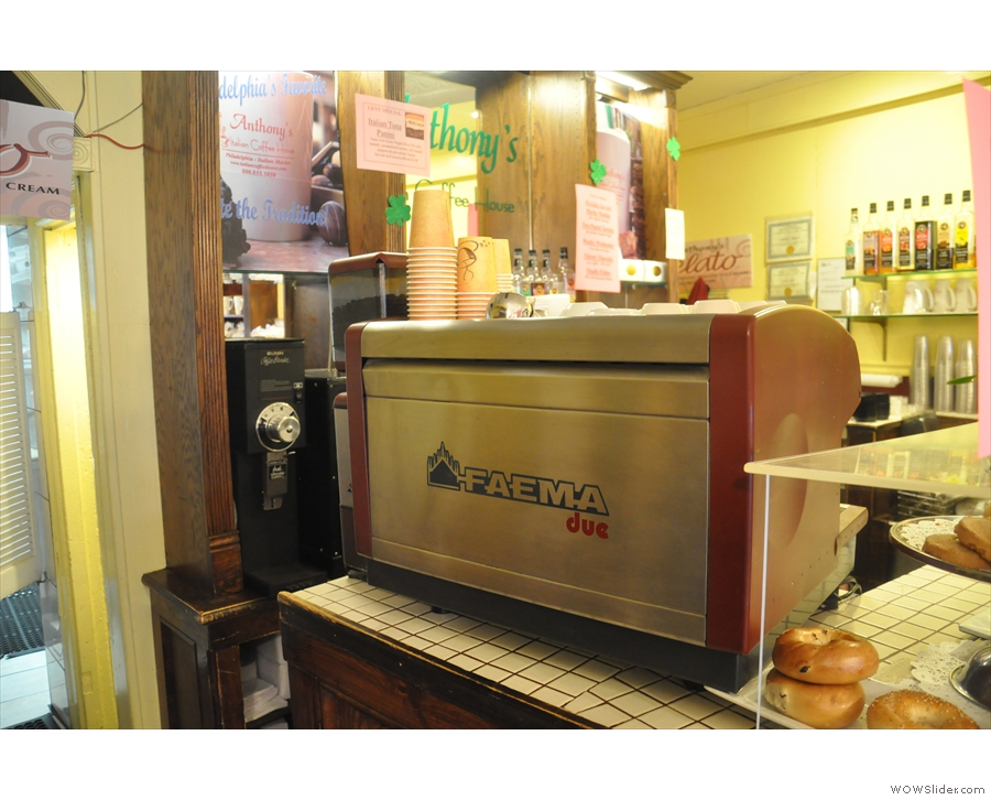 Another view of the espresso machine.