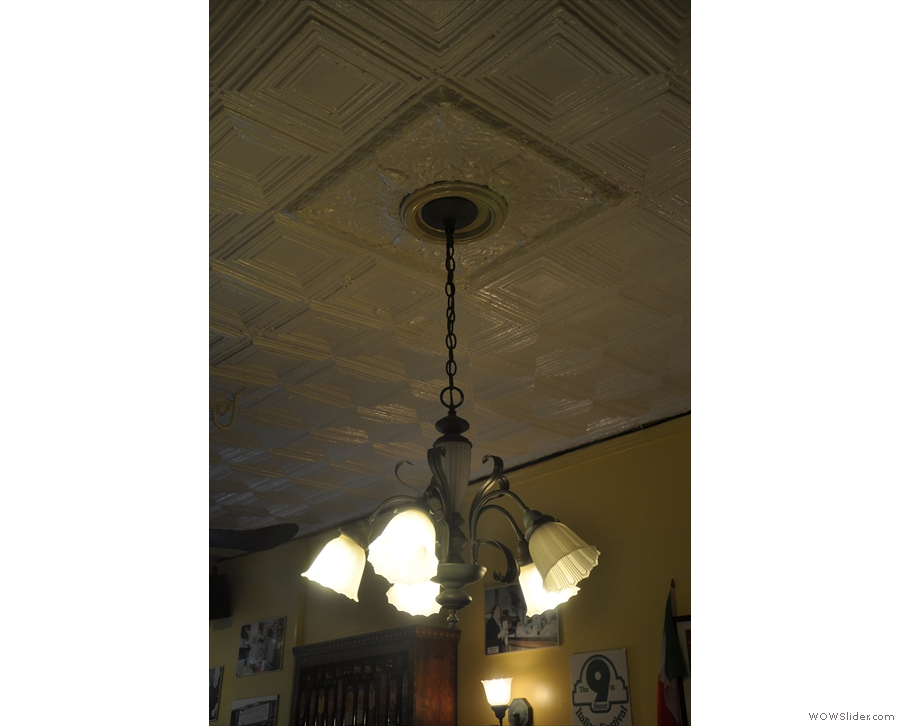Although the windows mean its quite bright, the chandeliers come in handy too.