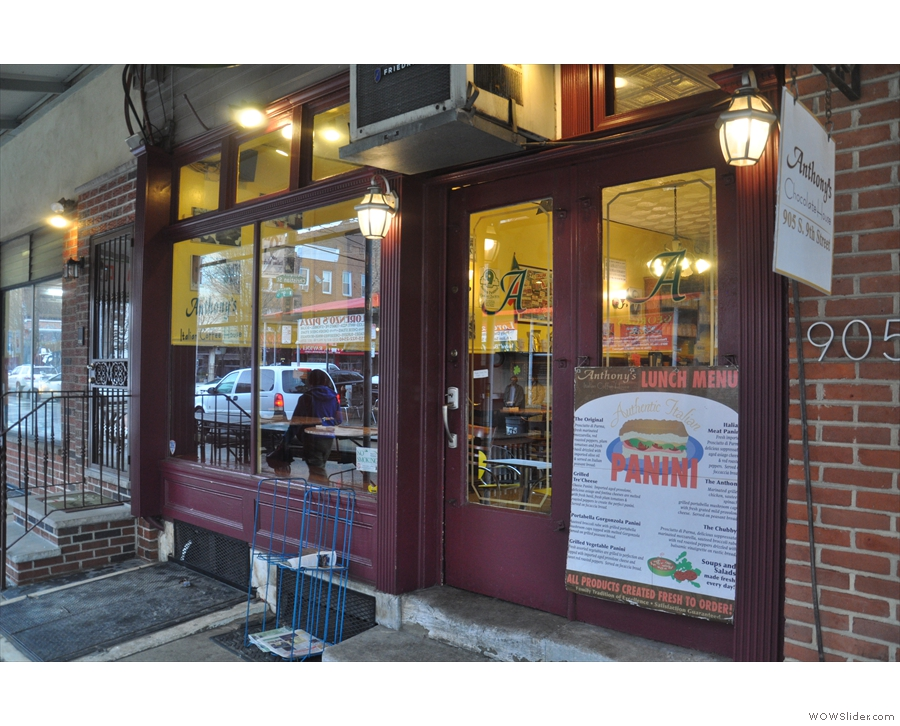 The simple store-front of Anthony's. Lots of windows means plenty of light.