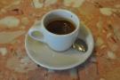 My espresso, in a classic, white cup.