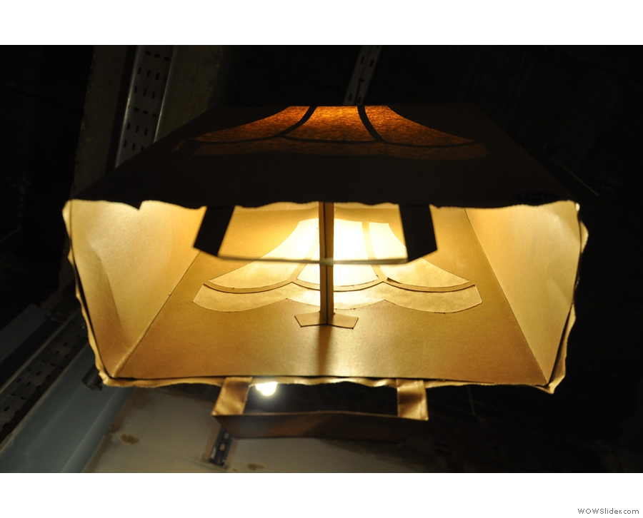 I've never seen a paper bag used as a lamp-shade before. Have you?