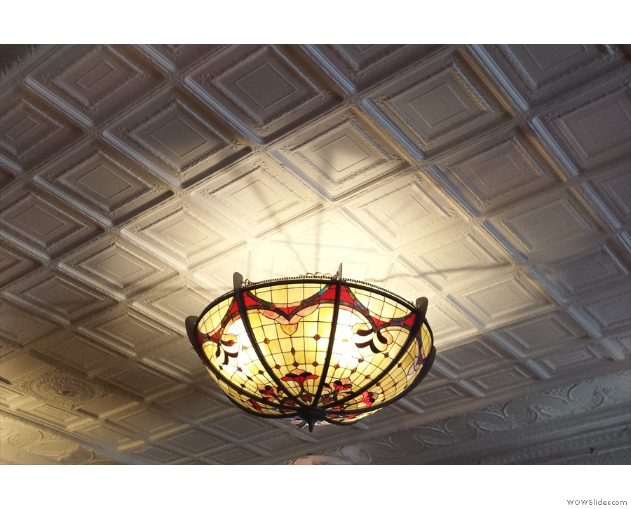 One of the glorious light-fittings from the cafe interior.