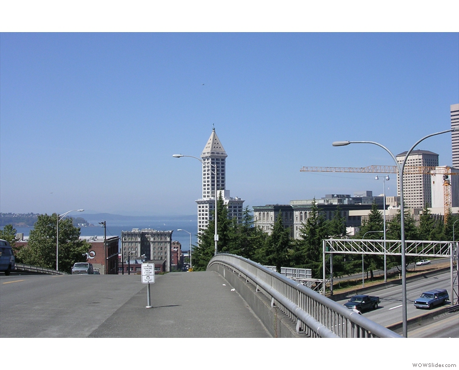 I don't recall Seattle being hilly, but this picture, again from 10 years ago, tells another story!