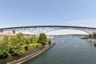 Aurora Bridge (officially George Washington Memorial Bridge), seen from the Fremont Bridge.