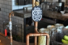 Directly opposite you as you come in: the cold-brew coffee, on tap like beer.