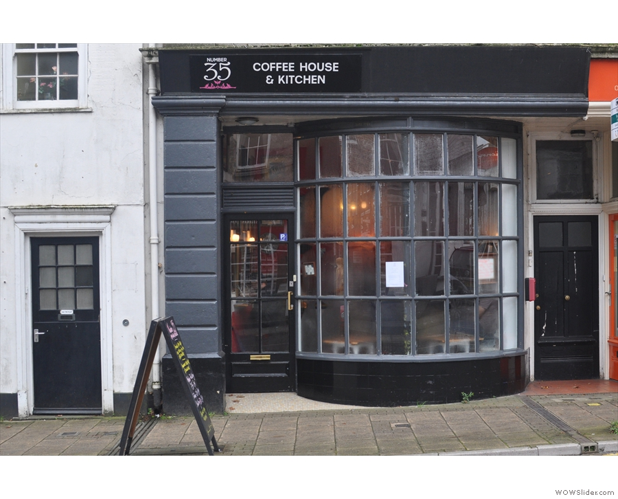 Another nominee to make the shortlist: Dorchester's Number 35 Coffee House & Kitchen
