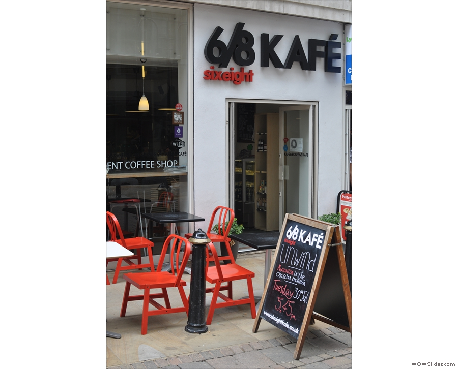 Despite my failure to notice it, 6/8 Kafe's fairly obvious once you know it's there!