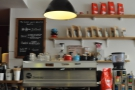 ... then comes the coffee, espresso machine and, off-screen to the left, the brew bar.