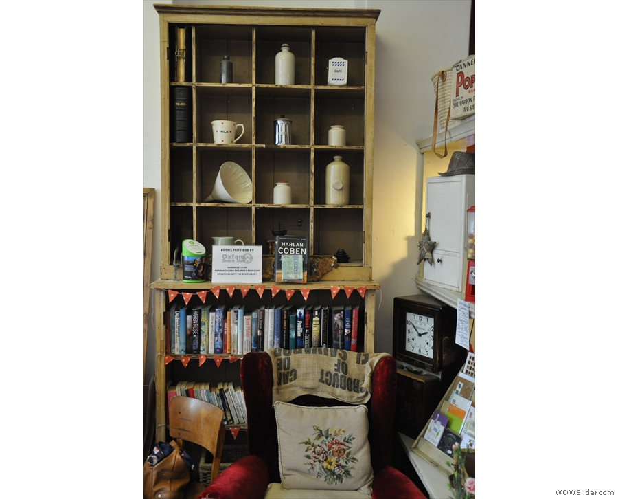 There are lots of interesting bits and pieces about, including this set of shelves.