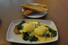 However, I was there for breakfast, so naturally it was Eggs Florentine for me.