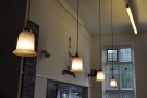 Another view of the lights over the counter.