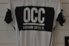 There are some interesting things on the wall behind the counter. OCC jersey, anyone?
